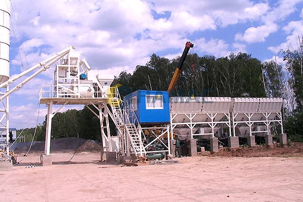 HZS50 Concrete Batching Plant in Indonesia