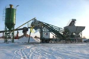 YHZS50 Mobile Concrete Batching Plant in Russia