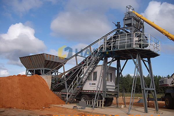 YHZS50 Mobile concrete batching plant in Australia