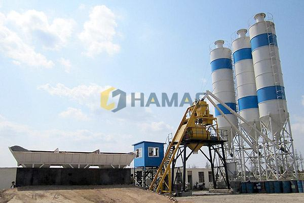 HZS50 series Concrete Batching Plant in South Africa