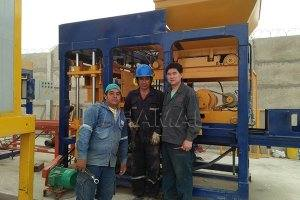 QT6-15 Automatic Block Making Machine in Peru