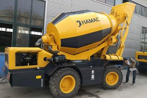 HMC350 self loading concrete mixer in Papua New Guinea