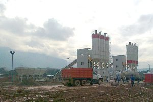 HZS120 concrete batching plant in Saudi Arabia