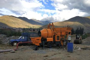 DHBT15 Concrete Mixer with Pump in Peru