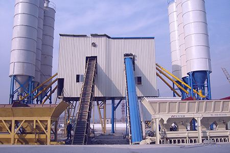 Reliable Performance of HZS120 Concrete Batching Plant