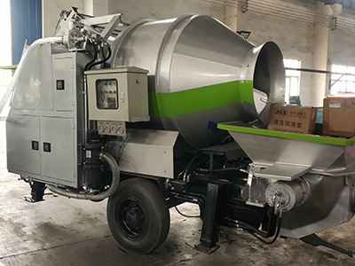 DHBT15 Diesel Engine Concrete Mixer with Pump was delivered to North America