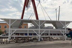 35m3 concrete batching plant in Estonia
