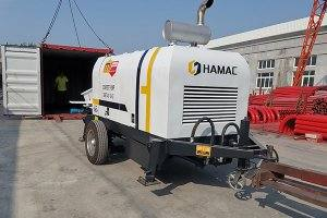 DHBT40 Concrete pump and slef-loading mixer in Peru