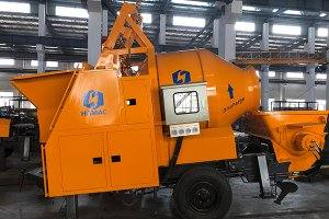 DHBT15 Diesel Engine Concrete Mixer with Pump in Mali