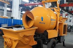 DHBT15 concrete mixer with pump in Nicaragua