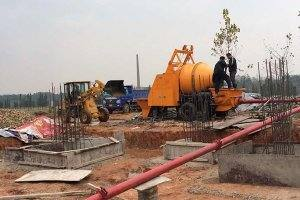 15m3 Concrete Mixer and Pump in Vietnam