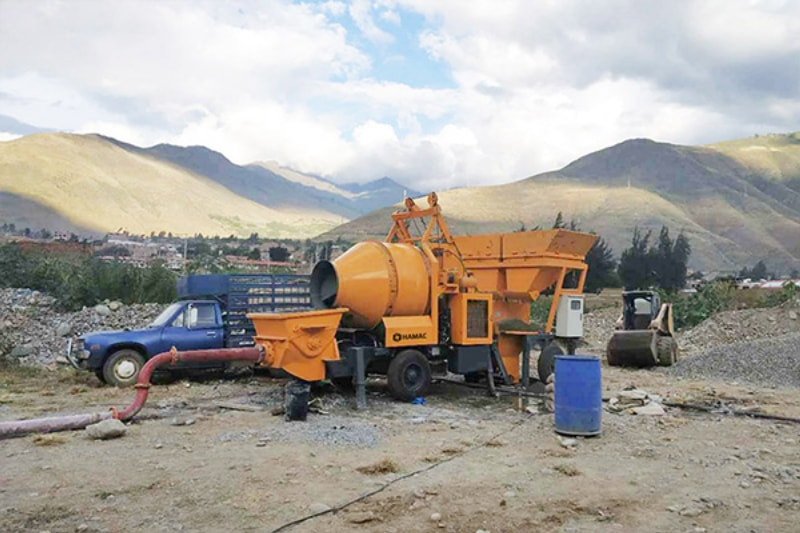 HBT15 Concrete Mixer With Pump in New Zealand