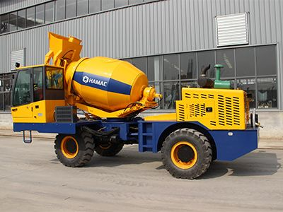 2m3 self-loading concrete mixer was delivered to South Asia